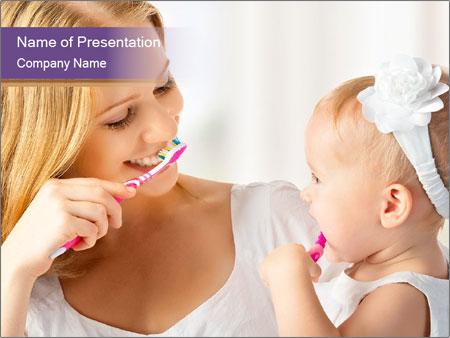 Mom teaches PowerPoint Template
