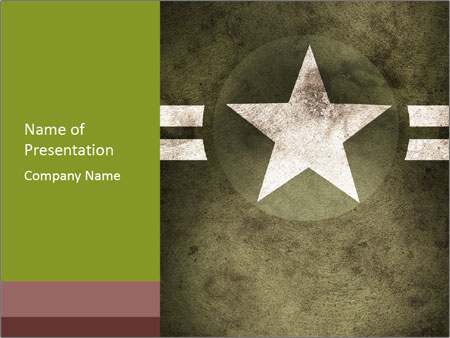 Military army star PowerPoint Templates