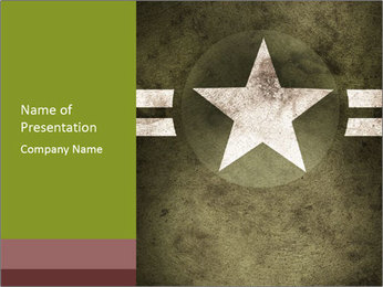 Military army star PowerPoint Templates - Slide 1