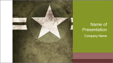 Military army star PowerPoint Template