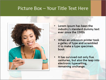 Happy African Woman PowerPoint Template - Slide 13