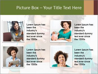 Happy African Woman PowerPoint Template - Slide 14