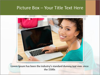Happy African Woman PowerPoint Template - Slide 15