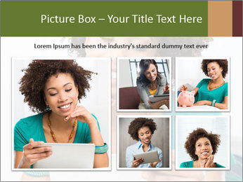 Happy African Woman PowerPoint Template - Slide 19