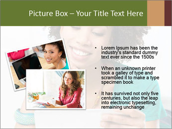 Happy African Woman PowerPoint Template - Slide 20