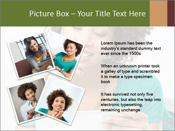 Happy African Woman PowerPoint Template - Slide 23