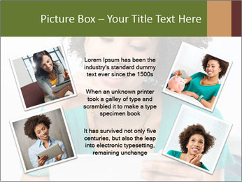 Happy African Woman PowerPoint Template - Slide 24