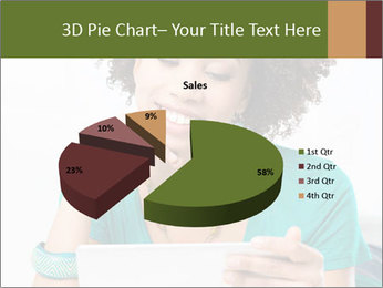 Happy African Woman PowerPoint Template - Slide 35