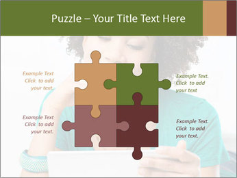 Happy African Woman PowerPoint Templates - Slide 43