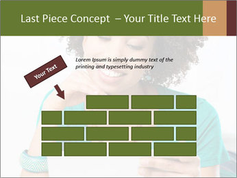 Happy African Woman PowerPoint Template - Slide 46