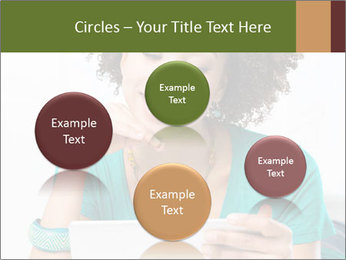 Happy African Woman PowerPoint Template - Slide 77