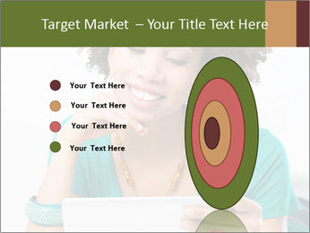Happy African Woman PowerPoint Template - Slide 84