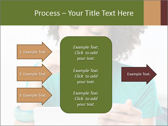 Happy African Woman PowerPoint Template - Slide 85