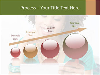 Happy African Woman PowerPoint Template - Slide 87