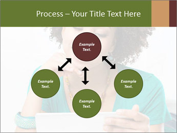 Happy African Woman PowerPoint Template - Slide 91