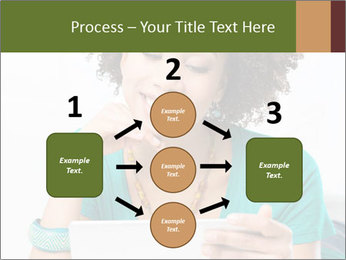 Happy African Woman PowerPoint Template - Slide 92