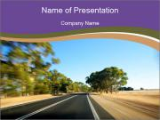 Australia route PowerPoint Templates