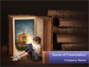 Fairy story book PowerPoint Templates - Slide 1
