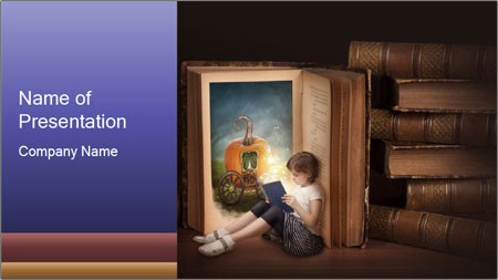 Fairy story book PowerPoint Template
