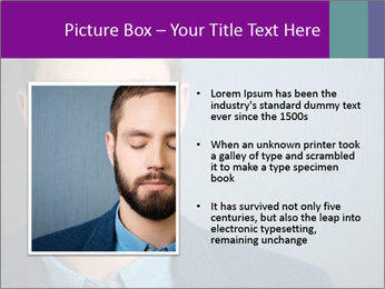 Businessman with eyes closed PowerPoint Template - Slide 13