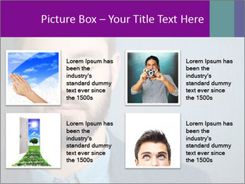 Businessman with eyes closed PowerPoint Template - Slide 14
