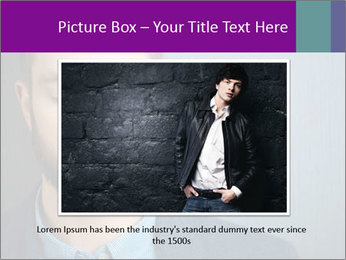 Businessman with eyes closed PowerPoint Template - Slide 15