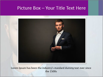 Businessman with eyes closed PowerPoint Template - Slide 16