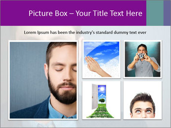Businessman with eyes closed PowerPoint Template - Slide 19