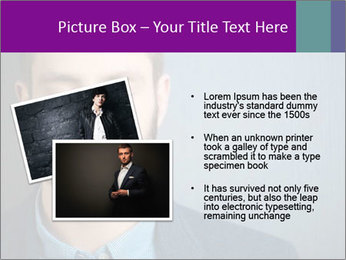 Businessman with eyes closed PowerPoint Template - Slide 20