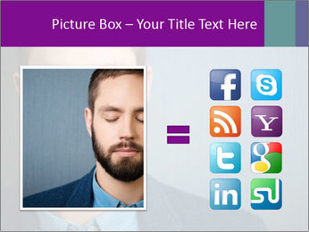 Businessman with eyes closed PowerPoint Template - Slide 21