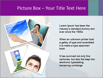 Businessman with eyes closed PowerPoint Template - Slide 23