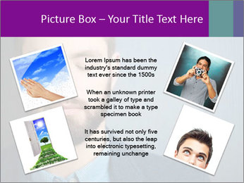 Businessman with eyes closed PowerPoint Template - Slide 24
