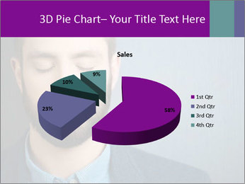 Businessman with eyes closed PowerPoint Template - Slide 35