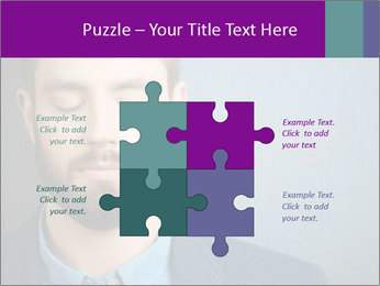 Businessman with eyes closed PowerPoint Template - Slide 43