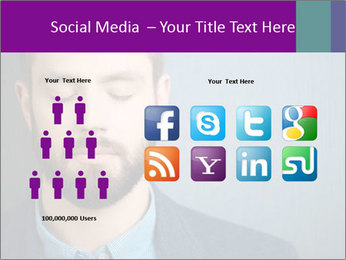 Businessman with eyes closed PowerPoint Template - Slide 5
