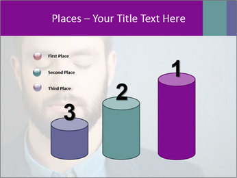 Businessman with eyes closed PowerPoint Template - Slide 65