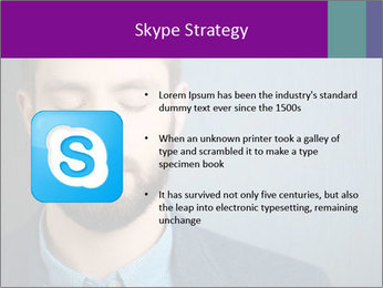 Businessman with eyes closed PowerPoint Template - Slide 8