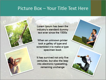 Young smiling man PowerPoint Template - Slide 24