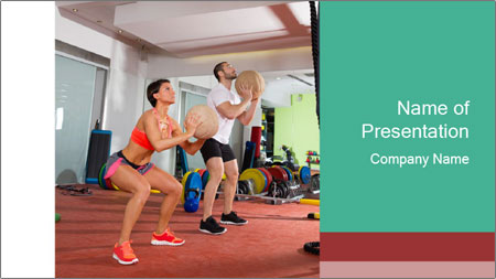 Crossfit ball PowerPoint Template
