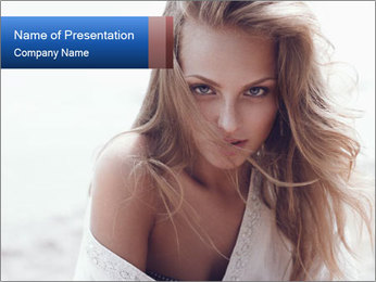 Beautiful woman PowerPoint Templates - Slide 1
