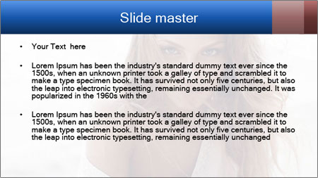 Beautiful woman PowerPoint Template - Slide 2
