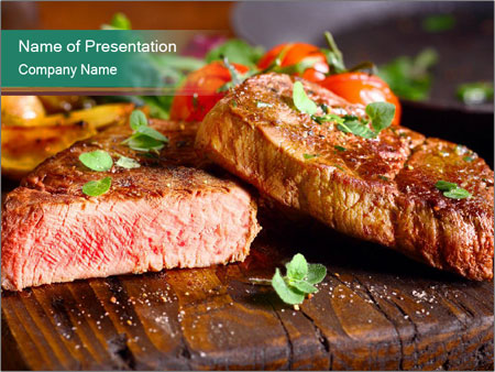 Beef steak PowerPoint Templates