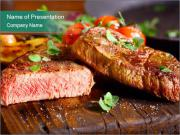 Beef steak PowerPoint Templates