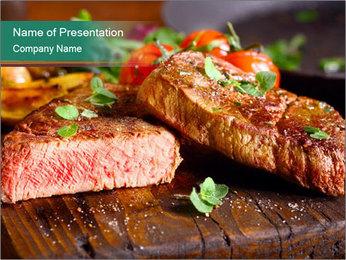 Beef steak PowerPoint Template - Slide 1