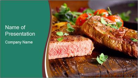 Beef steak PowerPoint Template