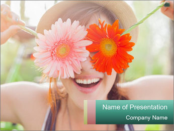 Colorful flowers PowerPoint Template - Slide 1