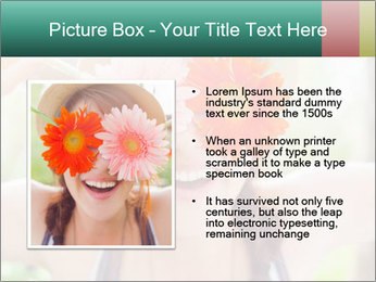 Colorful flowers PowerPoint Template - Slide 13