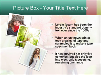 Colorful flowers PowerPoint Template - Slide 17