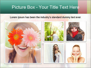 Colorful flowers PowerPoint Template - Slide 19