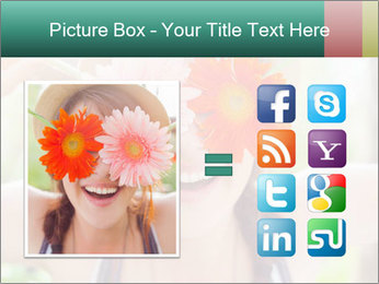 Colorful flowers PowerPoint Template - Slide 21